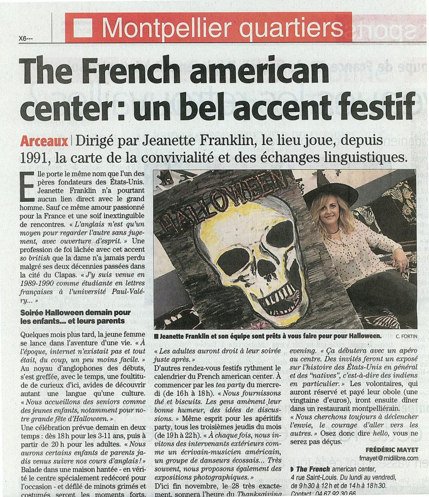 Halloween 2013 avec le French American Center !