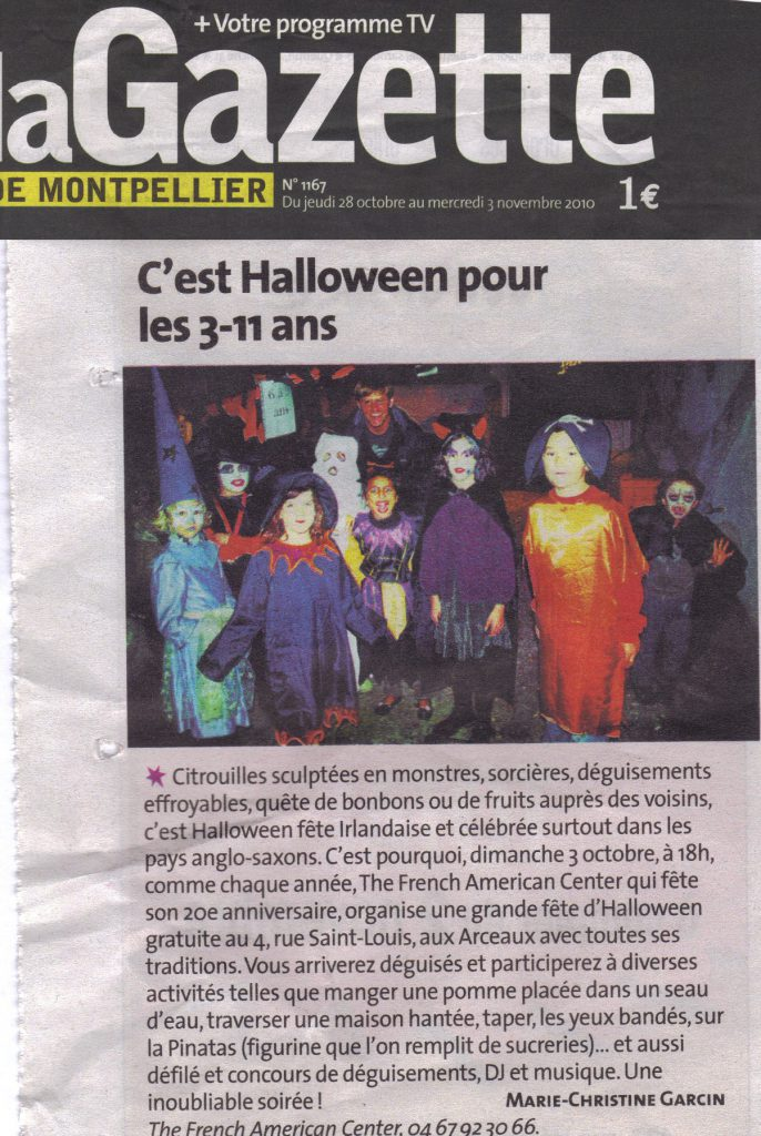 Le French American Center fête Halloween