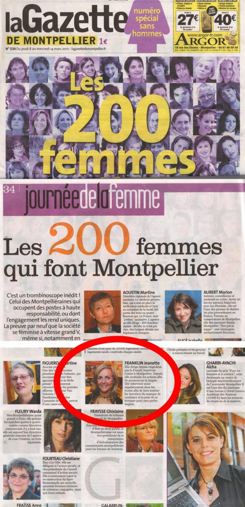 The 200 Women that make Montpellier