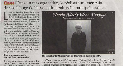 Presse - Woody Allen - Fan du French American Center de Montpellier