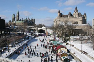 Skating on the Rideau Canal in Ottawa, Canada!